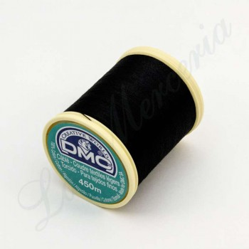"Thread 100% Cotton - ""Câblé"" - ""DMC"" - Black"