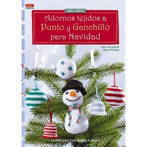 Serie Punto - Adornos tejidos a Punto y Ganchillo para Navidad