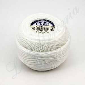 "Ball 100% Cotton - ""Cebelia"" - ""DMC"" - White"