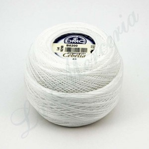 "Ball 100% Cotton - ""Cebelia"" - ""DMC"" - B5200 White"