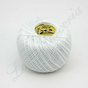 "Perlé 100% Cotton - ""Finca"" - White"