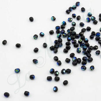 Faceted pearls - 4 mm. - Black 55