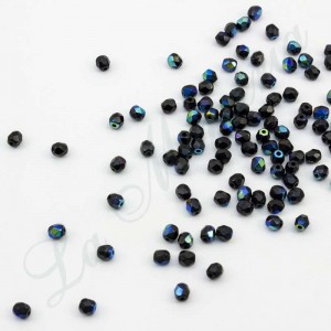 Perlas Facetadas - 4 mm. - Negro 55