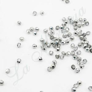 Perlas Facetadas - 4 mm. - Plateado 54