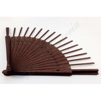 Wooden fan - Purple wood - Engraved