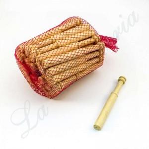 Bolillos Rectos - Madera de Boj - 10 cm. - Paquete 50 u.