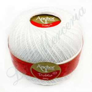 "Ovillo 100% Algodón - ""Tridalia"" - 200 gr. - Blanco"