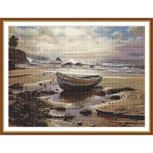 """""""Una barca en la playa"""" - Gráfico"""