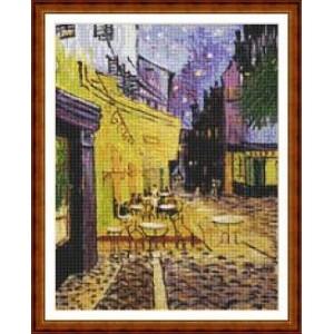 """""""Terraza de café por la noche"""" - Vincent van Gogh - Gráfico"""