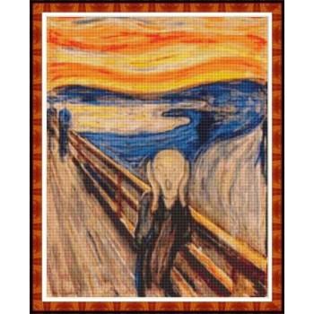 """The Scream"" - Edvard Munch - Graph"