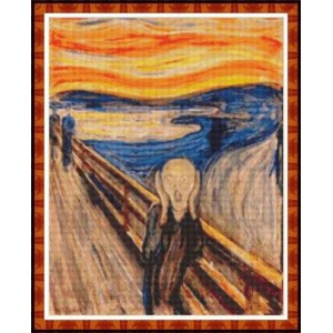 """The Scream"" - Edvard Munch - Graph"