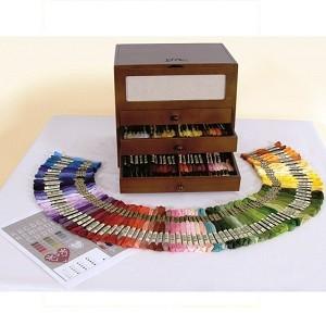"""Sewing box - """"Vanity Vintage Mouline DMC"""""""