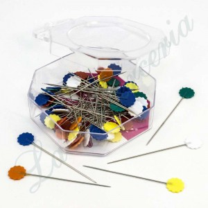 Fantasy needle box - Color flowers - (50 u.)