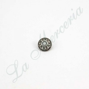 "Metallic button - Old Silver - ""Fil d'Or"""