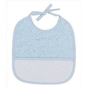 "Bib of curl - 6 Month - Blue - ""DMC"""