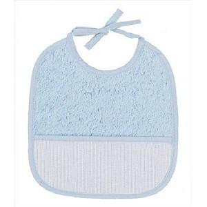 """Babero de rizo - 6 meses - Azul - """"DMC"""""""