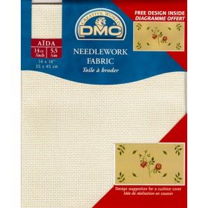 "Aida ""DMC"" -  100% Cotton - 5,5 squares / cm. - Pre-cut - 35 cm. x 45 cm."