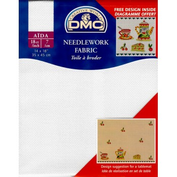 "Aida ""DMC"" -  100% Cotton - 7 squares / cm. - Pre-cut -35 cm. x 45 cm."