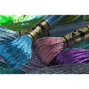 "Mouliné 100% Polyester - Light effects floss - ""DMC"" - 6 Strands"