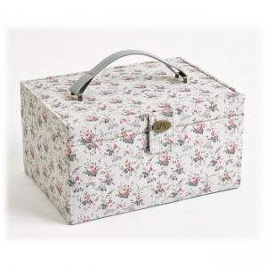 "Sewing box ""little roses - Vintage""  - ""DMC"""