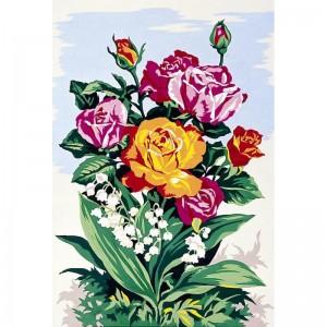 """Seg """"Rosas"""" - Con hilos y agujas"""