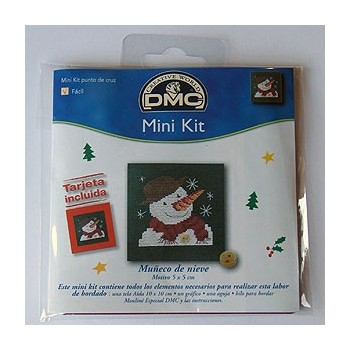"Mini kit - ""Snowman"" - Included card"