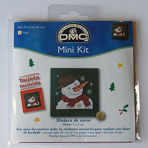 "Mini kit - ""Snowman"" - Included card"
