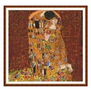 """""""El Beso"""" - Gustav Klimt - Graph"""