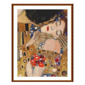 """El Beso"" 2 - Gustav Klimt - Gráfico"