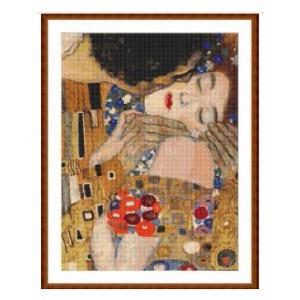 """""""El Beso"""" 2 - Gustav Klimt - Graph"""