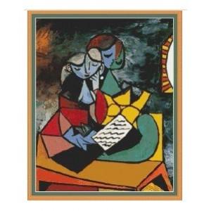 """""""La Lección"""" - Pablo Picasso - Gráfico"""