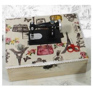 Caja Costura - Madera - Máquina Coser