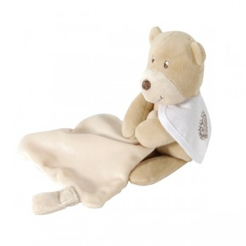 Bear soft toy with small blanket -DMC