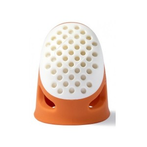Ergonomic silicone thimble - Orange -  Prym