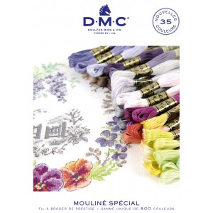 "35 NEW COLORS - Mouliné 100 % Cotton - ""DMC""  - 6 strands"
