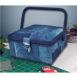 Jeans Sewing Box