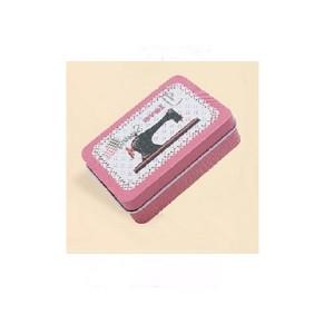 """Caja metálica rectangular """"Costura"""""""