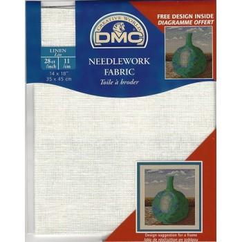 """Tela """"DMC"""" - 100% Lino - 11 cuadros / cm. - 35 cm. x 45 cm."""