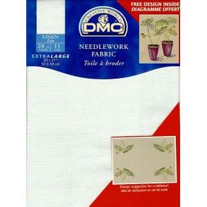 """DMC"" - 100% Lino - 11 squares / cm. - 50 cm. x 68 cm."