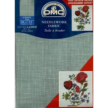 """Tela """"DMC"""" - 100% Lino - 11 cuadros / cm. - 50 cm. x 68 cm."""
