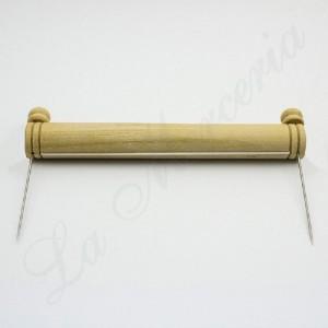 Recogedor de madera de puntillas (con las dos agujas)