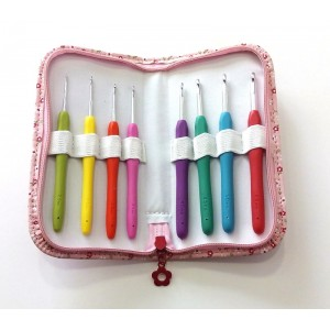 Set of 8 Crochet Hooks with Pouch - DMC