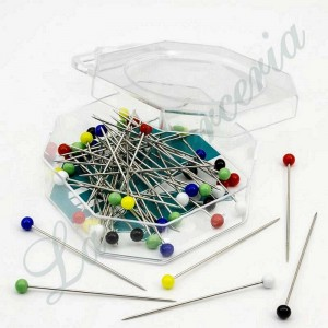 "Plastic needles box - Assorted colours - ""Fil d'Or"" - 49 x 0,65 mm. (100 u.)"