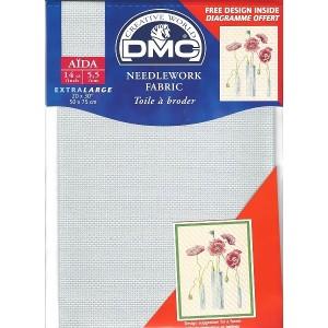 "Aida ""DMC"" - 100% Algodón - 5,5 cuadros / cm.-  Pre-cortada - 50 cm. x 75 cm."