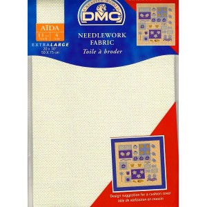 "Aida ""DMC"" -  100% Cotton - 4 squares / cm. - Pre-cut - 50 cm. x 75 cm."