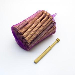 Straight bobbins in Guatambú wood - Thin - 10 cm. - 50 units