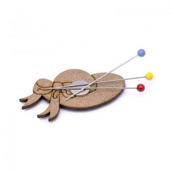 Magnetic Wooden Pincushion - Hat