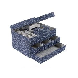 "Sewimg Box ""Fleurs Bleues"" - DMC - Big"