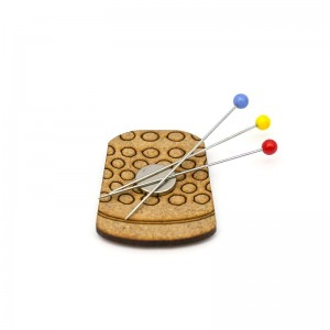 Magnetic Wooden Pincushion - Thimble