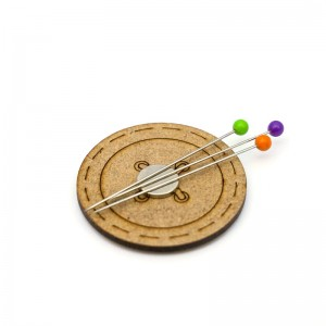 Magnetic Wooden Pincushion -  Button